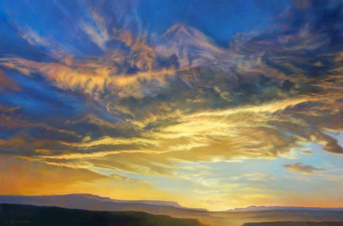 The Phoenix, Arizona Sunset featuring a bird called The Phoenix, soft canyon foreground