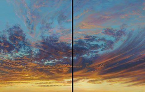 Swirl & Swish II, Skyscape, Southwest, Sunset